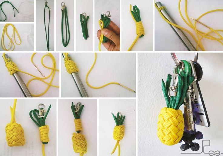 """Dieses Tutorial wurde mir von Leslie Steiner zur Verfügung gestellt, siegab mir freundlicher Weise ihreErlaubnis dieses hier einzustellen. """"Vielen Dank dafür!"""" So hier meine Anleitung für die Ananas Material ungefähr für eine Größe von ~3×2,5cm -ohne Grünzeug: Gelb ohne Seelen: 155 cm Gelb mit Seelen: 30cm (-Innenleben) Grün ohne Seelen: 51 cm 1) Seelen entfernen …"""