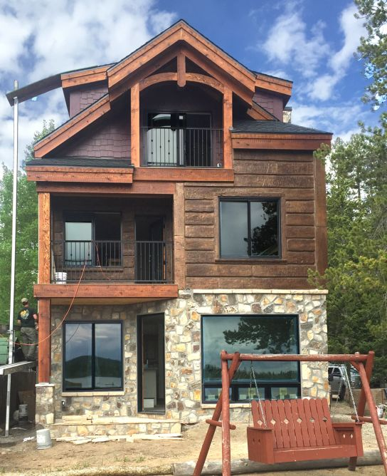 25 best ideas about log home builders on pinterest log for Log siding house plans