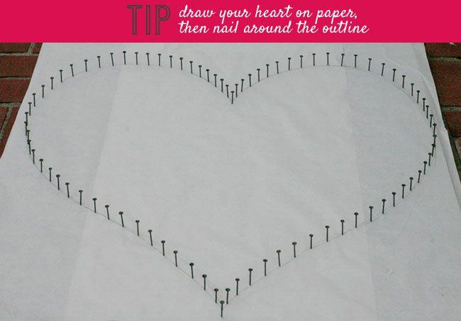 DIY: String Heart | Green Wedding Shoes Wedding Blog | Wedding Trends for Stylish + Creative Brides