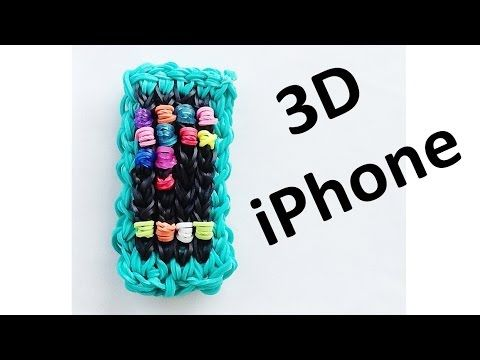 Rainbow Loom 3D iPhone Charm // How to make with loom bands