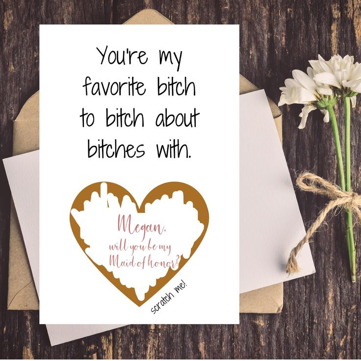 funny wedding card messages for friends%0A Funny Bridesmaid Proposal Card  Funny Maid of Honor Proposal Card  Will You  Be My