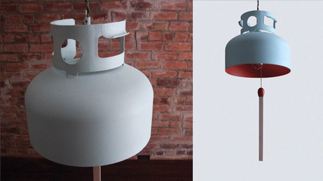 The Best Way to Recycle a Propane Tank Is to Make It a Lamp. By Fleix Guyson of La Firme: Gas Lamps, Gastank Lamps, Gas Tanks, Propane Lamps, La Firm, Interiors Design, Tanks Lamps, Overhead Lamps, Eye Catch Design