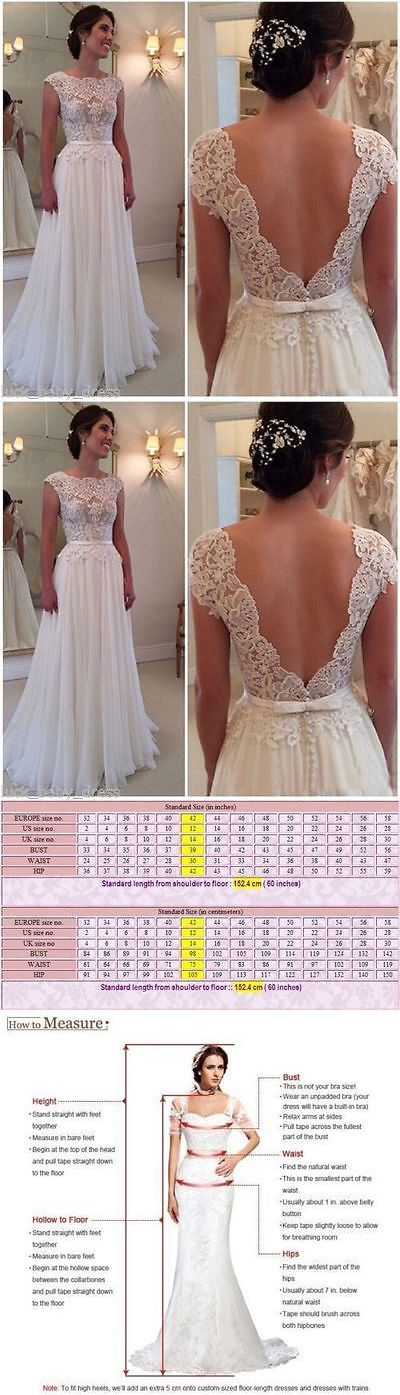 Wedding Dresses: White/Ivory New Bridal Gown Wedding Dress Custom Size 2 4 6 8 10 12 14 16 18+++ BUY IT NOW ONLY: $115.0