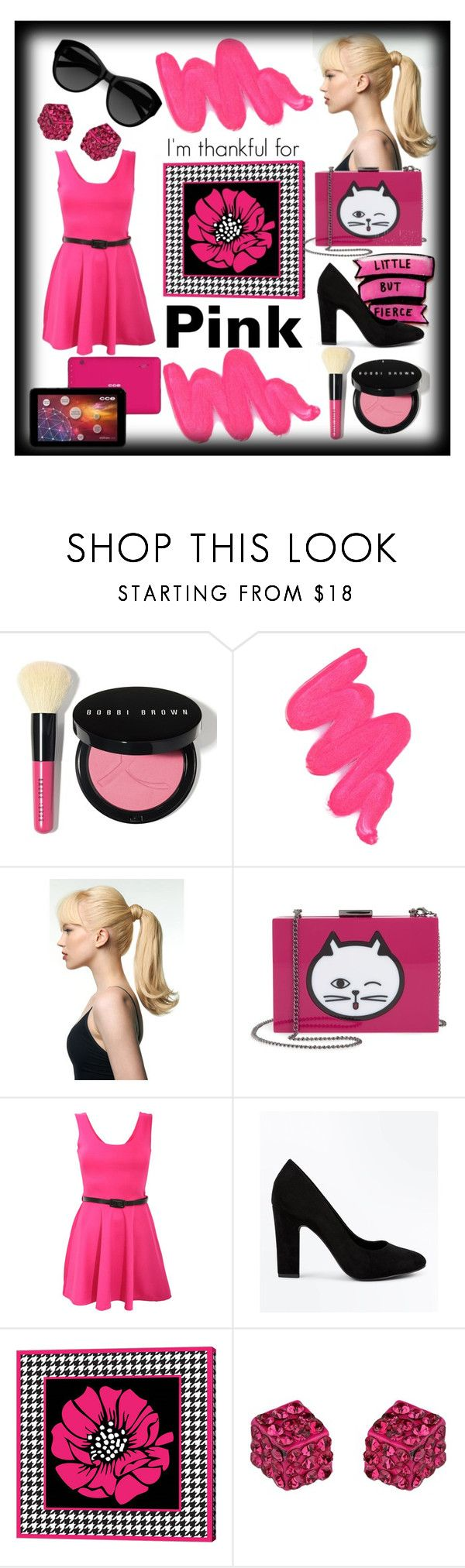 """Thankful Pink"" by akemiprincess ❤ liked on Polyvore featuring Bobbi Brown Cosmetics, Obsessive Compulsive Cosmetics, Toni&Guy, Nordstrom, Pilot, New Look, Carla Zampatti, House of Fraser and Tela Beauty Organics"
