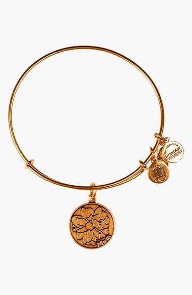 For Mother's Day for my mom. Alex and Ani 'Mom' Adjustable Wire Bangle available at #Nordstrom