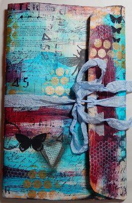 Art Journal creating using a manila envelope by Christy Houser