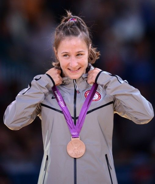 In her first Olympics, 26-yr-old Marti Malloy became the second American to ever medal in judo when she took home the Bronze in the 57-kilogram division at the 2012 London Olympics! (Photo: Franck Fife/AFP)
