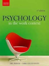 Free download or read online Psychology in the work context, 5th edition a beautiful psychology related pdf book authorised by Ziel Bergh.