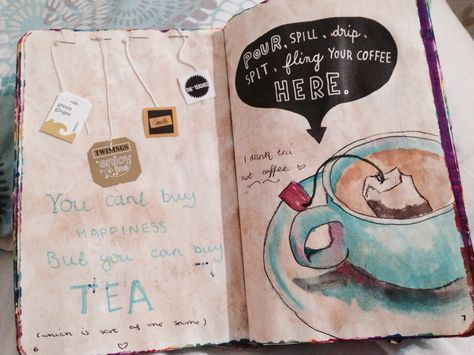 pour spill drip spit fling your coffee here wreck this journal - Sök på Google