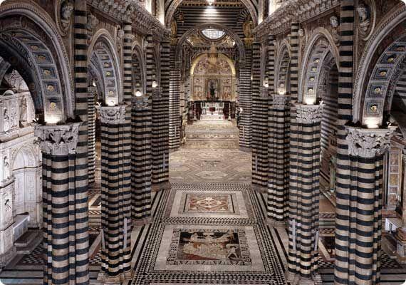 The Duomo of Siena - Interior Panoramic View
