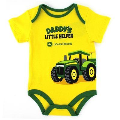 John Deere Baby Boys Bodysuit Bodyshirt Tractor #YankeeToyBox #FunStartsHere #JohnDeere #Tractor #BabyBodysuits #BabyShower #BabyGift