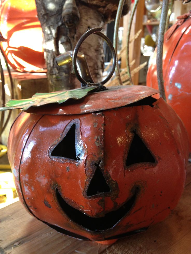 Artisan metal pumpkins great for inside or outside displays! Countryside Garden Centre www.csgcl.com