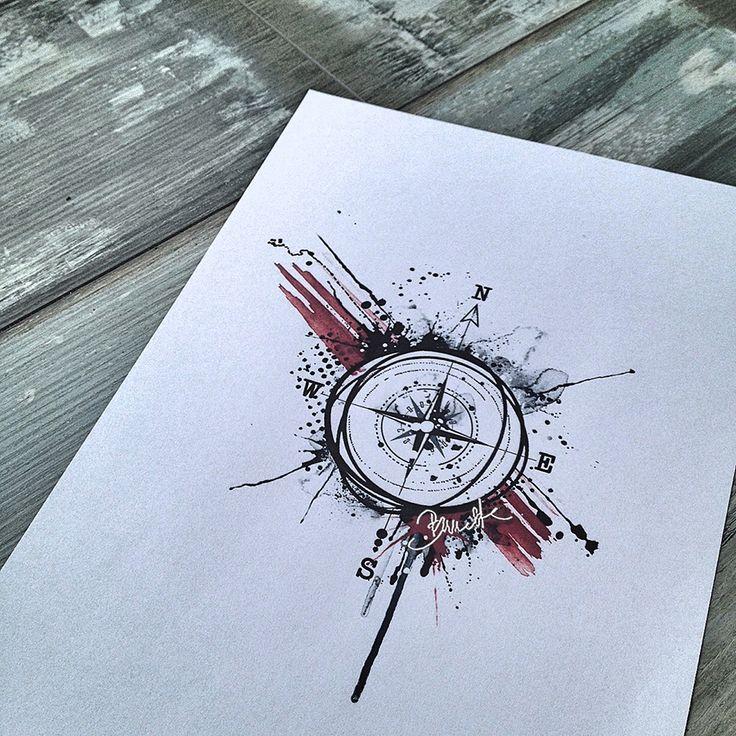 Kompass bleistiftzeichnung  18 besten Kompass Bilder auf Pinterest | Kompass, Tattoo-Designs ...