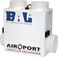 bal airport fresh air exchanger bathroom fanshouse - Tiny House Appliances