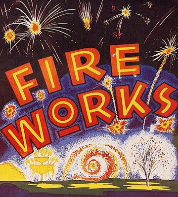 Hippest Vintage Fireworks Posters and Labels for the four of July