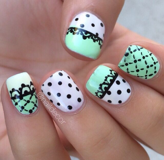 Cute lace nails