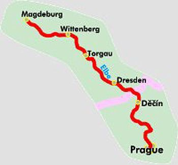 ... Elbe Cycle Trail Part 1: Prague - Magdeburg (500km) Bikeline Map/Guide