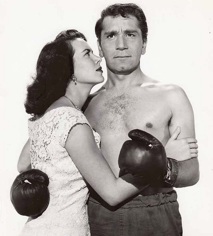 """RICHARD CONTE and Vanessa Brown in """"The Fighter"""", 1952"""