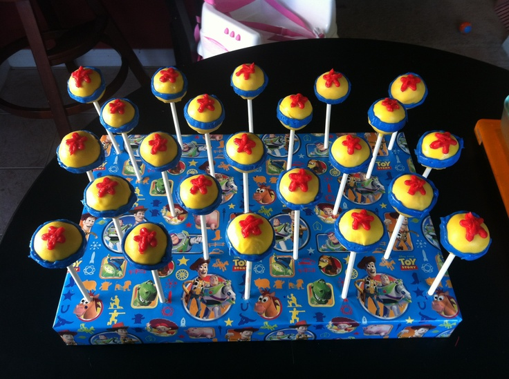Toy Story Ball Cake Pops