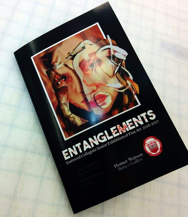 Printed this art program for Eastwood Collegiate Institute's graduating 16/17 art class exhibition: Entanglements  #KWAwesome #art #booklets #printing #printshop #MoreThanJustSigns