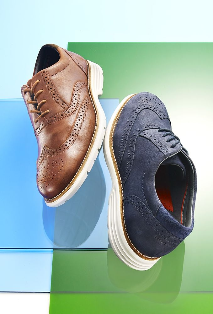 Where comfort meets style, these Rockport wingtips are a stylish dad's  wardrobe must. Want