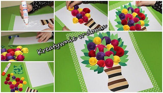 Laurki Dla Babci I Dziadka Ze Starszakiem Kreatywnie W Domu Paper Flowers Crafts Handcraft