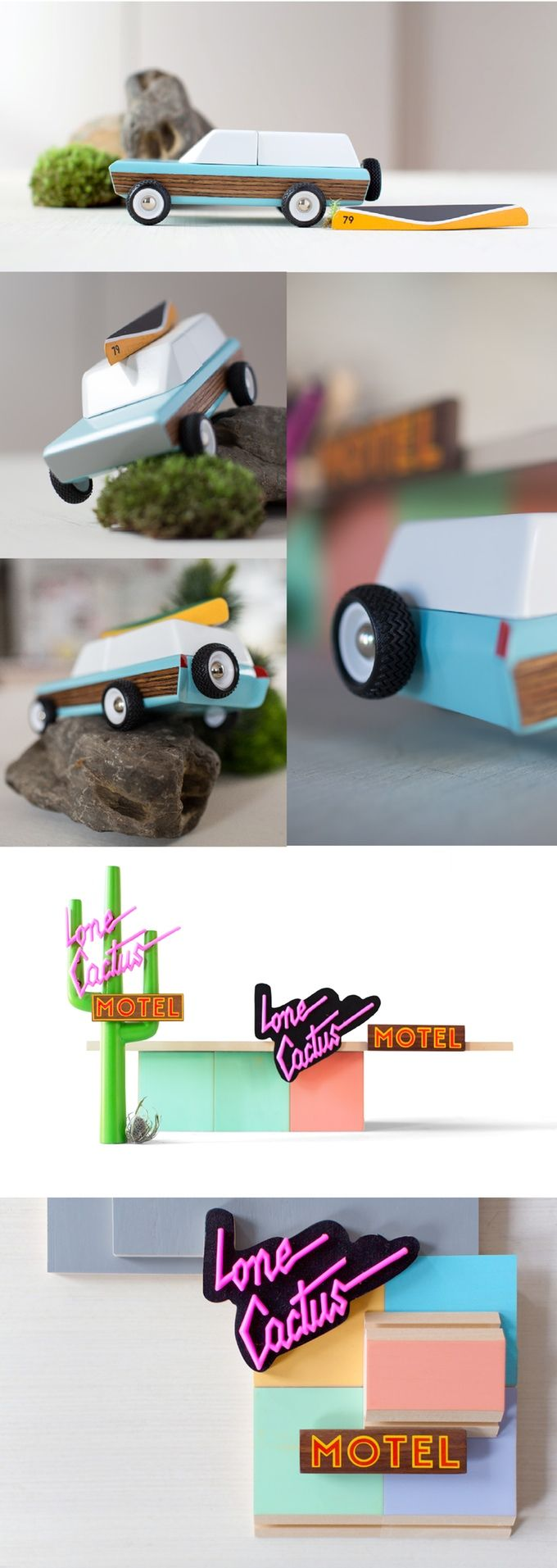 Candylab Toys' colorful wooden cars celebrate the golden age of American road trips and the rebirth of American manufacturing.