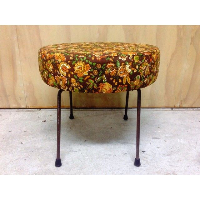 Stool made out of a recycled chair base
