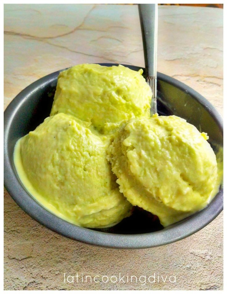 creamy avocado & lime ice cream | ice cream | Pinterest