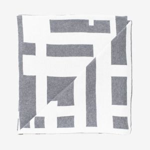 Summer Maze Blanket (grey + white) / The Depot & Co.