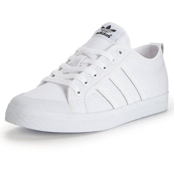 Adidas Originals Honey Low W Trainers (64 CAD) ❤ liked on Polyvore featuring shoes, sneakers, adidas originals sneakers, adidas originals, adidas originals shoes, white canvas sneakers and canvas sneakers