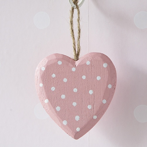 Hanging Heart Decoration-Pink