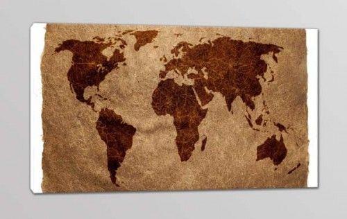 quadro moderno stampa planisfero mappamondo