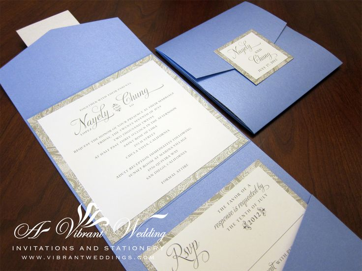 To view our extensive portfolio or to customize your own invitation, please contact us at www.VibrantWeddings.com or (619) 852-6886. $8.00 per invitation suite fully assembled for 100 invitations. …