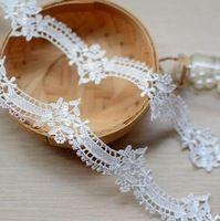 Черно-белый 3 изысканный водорастворимый кружева украшения diy вечернее платье невесты ожерелье кружева декоративные аксессуары