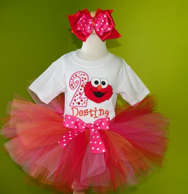 Sweet Baby Elmo Girls Birthday Tutu Set... Claire's's 2nd bday ideas! She loves Elmo!