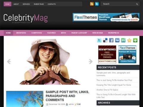 CelebrityMag Free Wordpress Template