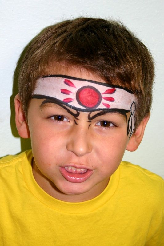 Karate kid. Cool face painting idea for boys