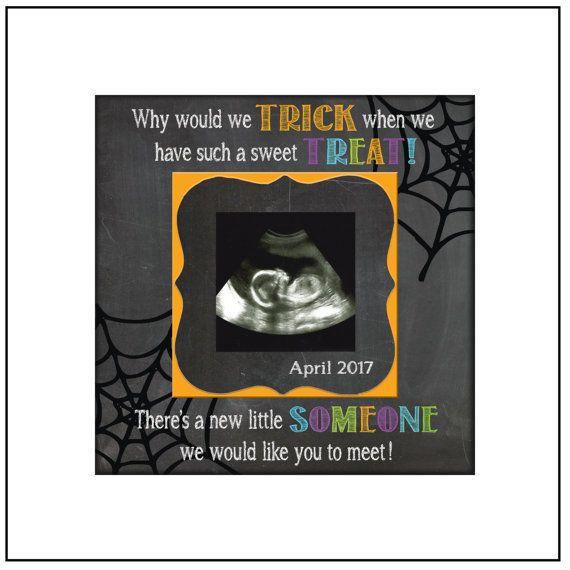 HALLOWEEN PREGNANCY REVEAL idea  Sonogram Photo  by MemoryScapes