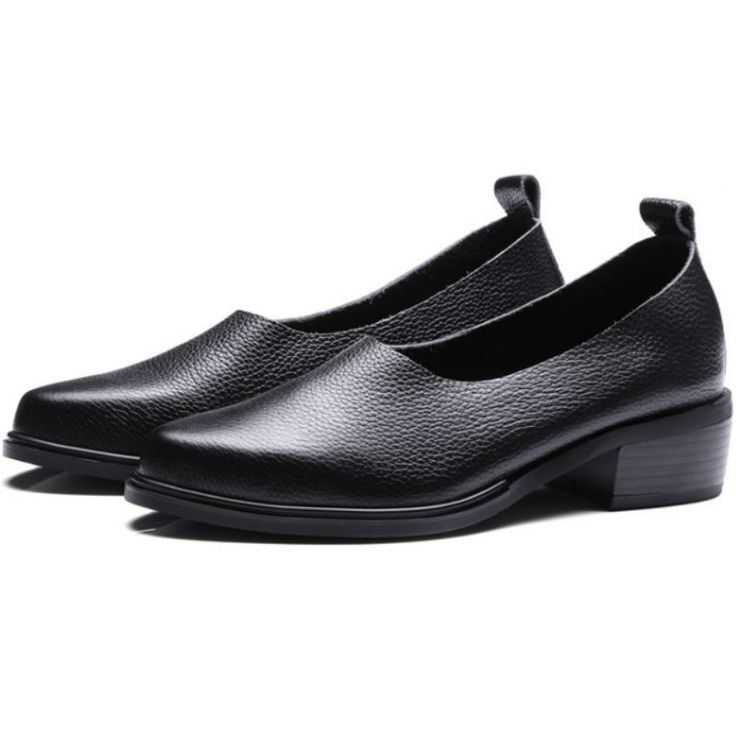 66.00$  Watch more here - http://ai136.worlditems.win/all/product.php?id=32799223953 - Women Real cow leather 2017 pointed toe shallow 3.5cm low square heel single shoes Fashion Litchi pattern ladies neutral pumps