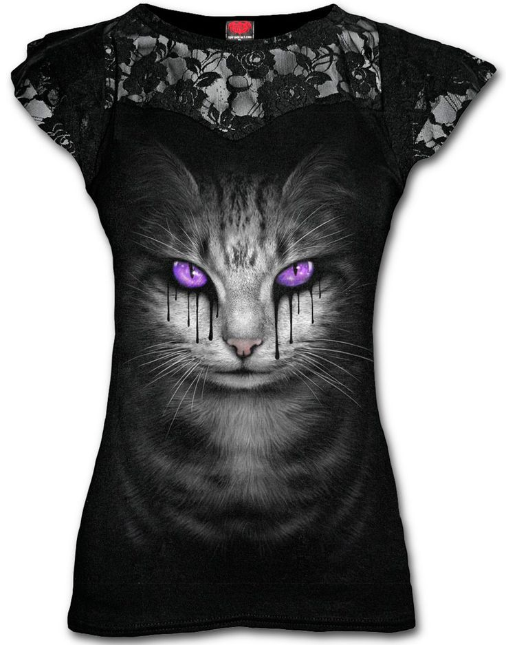 Camiseta Cat's Tears #spiral #direct #ropa #gotica #gatos #cats #gothic #clothing #xtremonline