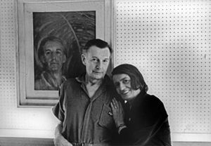 Ayn Rand and her husband in New York