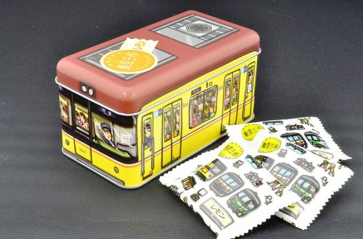 東京三歩 電車缶 銀座線1000系(レモン味) | メトロの缶詰(東京メトログッズ・電車ケーキ・鉄道グッズ通販サイト)