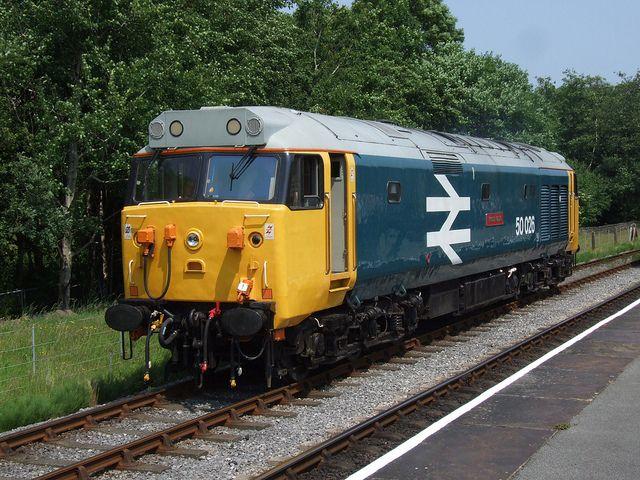 BR Class 50 50026 Indomitable at Rawtenstall (05/07/2013)   Flickr - Photo Sharing!