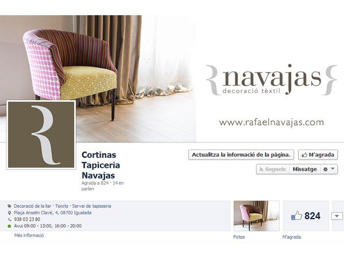 Diseño de la Fan page de Facebook para la tienda rafaelnavajas.com