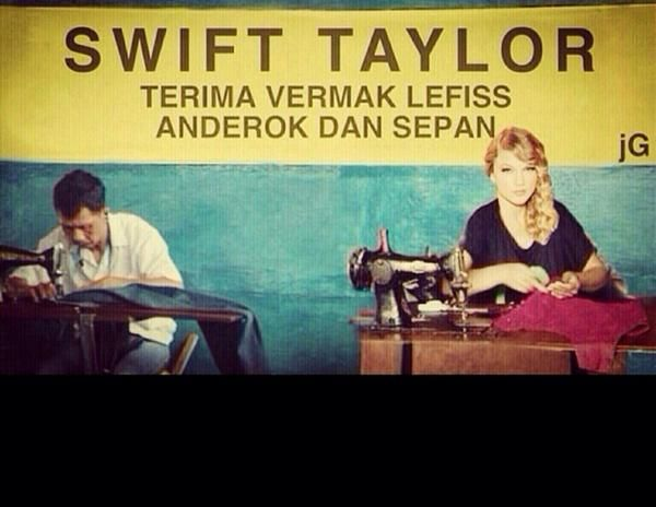 """Swift Taylor"" - terima vermak lefiss..."