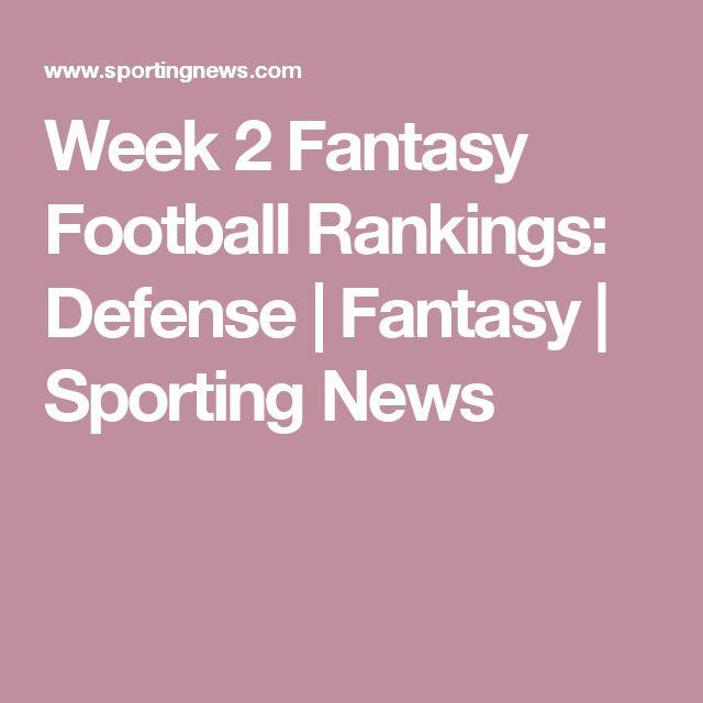 Week 2 Fantasy Football Rankings: Defense   Fantasy   Sporting News