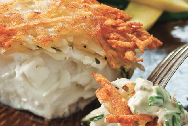 ATK Potato Crusted Halibut. I would eat this every single night. It ...
