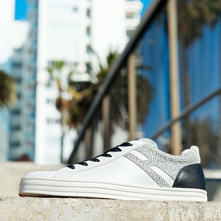 #HOGANREBEL #Mens R141 Suede sneakers with leather detailing. Explore the urban feeling