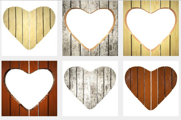 wooden signboard in shape of heart by frescomovie on Creative Market